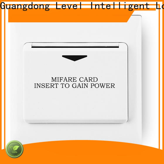Level Latest hotel magnetic card switch factory for Villa