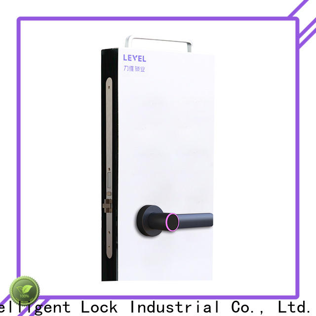 Level latch electronic door lock with key directly price for guesthouse