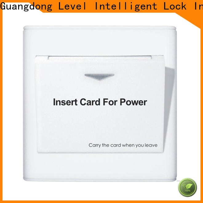 Level hotel key card slot company for residential