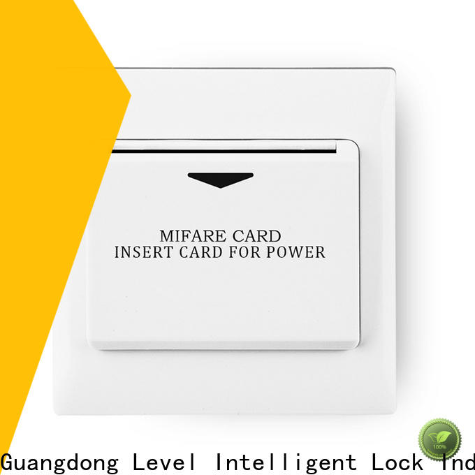 Level sw6000rmf1 hotel room key card switch supplier for Villa
