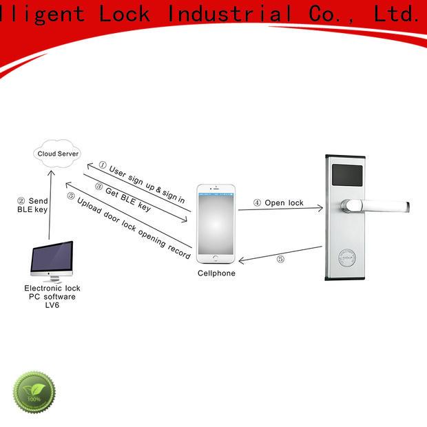 Level lock bluetooth security door lock supplier for hotel