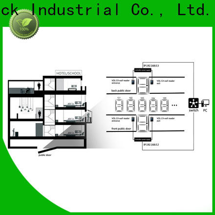 Level technical key fob door lock system factory for hotel