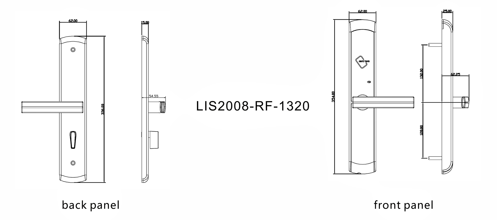Level Top hotel latch lock directly price for lodging house-4