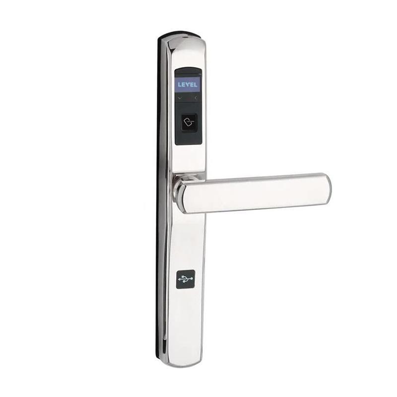 Hotel electronic smart card lock for bridge-cut aluminum alloy door RF-290