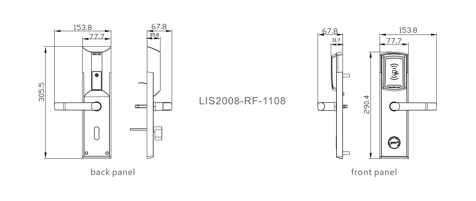 Level rf1660 hotel lock supplier for guesthouse-4