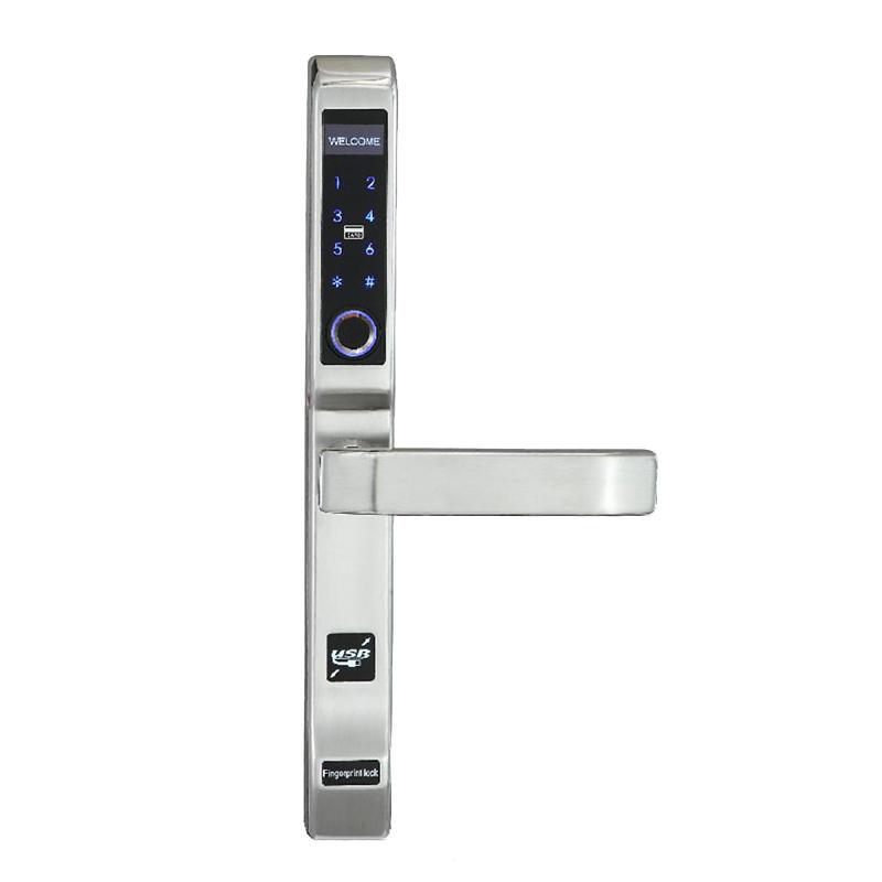 Intelligent fingerprint digital card lock for bridge-cut aluminum alloy door MDT-330