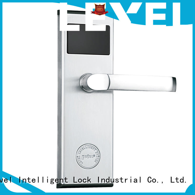 Level style key card door lock for hotels promotion for Villa