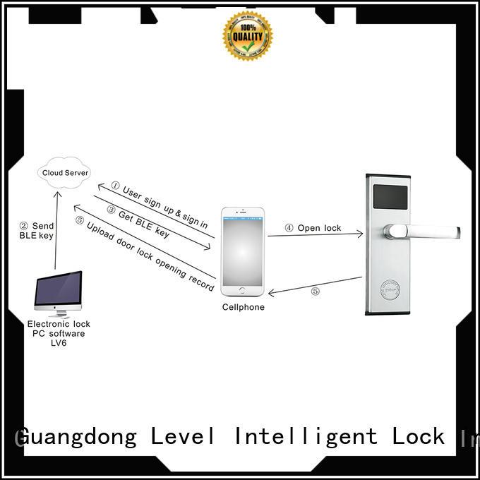 Level durable bluetooth door lock supplier for office