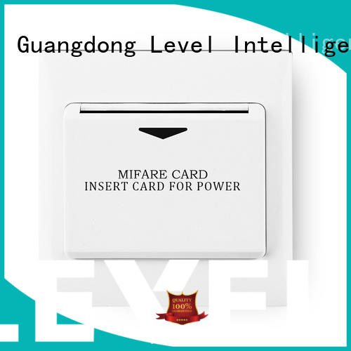 Level card hotel energy saving switch from China for apartment