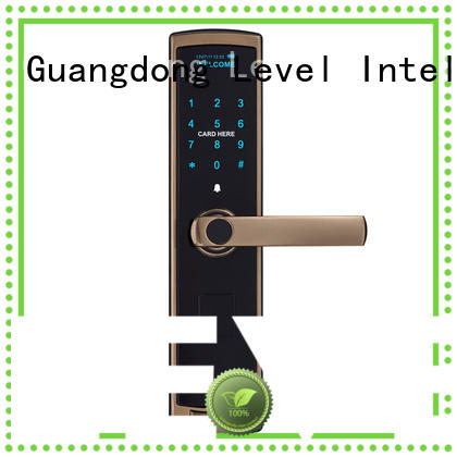 Level alloy smart card lock wholesale for apartment