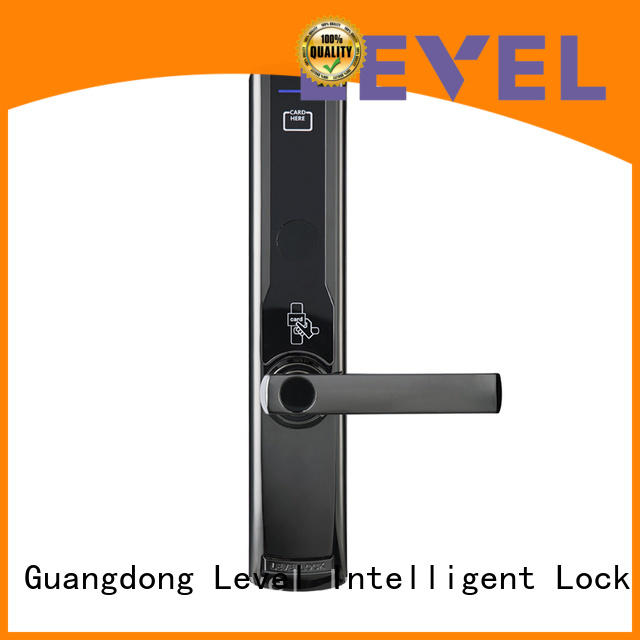 Hot two hotel door locks model steel Level Brand