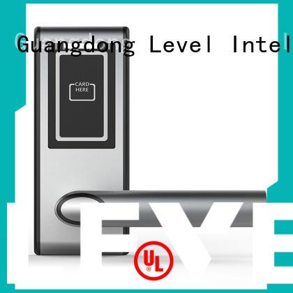 Level aluminum smart card lock supplier for Villa