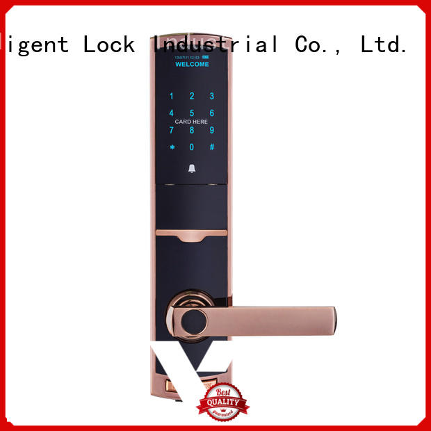 Residential electronic RFID card lock with touch screen password TDT-1330