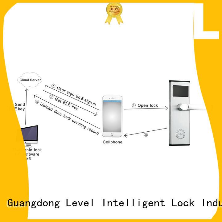 Level hotel bluetooth door lock promotion for apartment