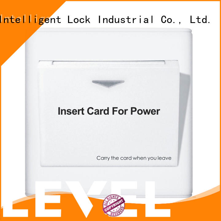 Level insert hotel energy saving switch promotion for home